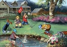 Casse-tête 1000 mcx - Pauline Paquin - Partie de golf