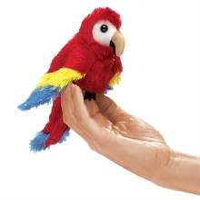Marionnette à doigt - Perroquet