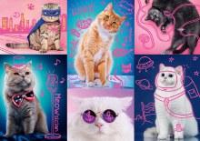 Casse-tête 1000 mcx - Néon chats originaux