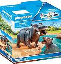 Hippopotame et bébé