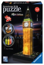 Casse-tête 3D, 216mcx - Big Ben, London - Night Edition