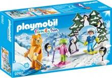 Moniteur de ski et enfants