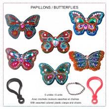 Jacarou Diamants - Portes-clés-papillons