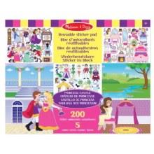 Bloc d'autocollants réutilisables - Château de Princesse