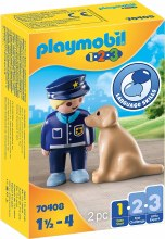 Policier avec chien