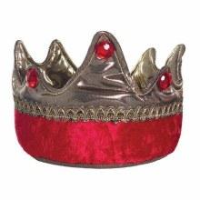 Couronne de roi or et rouge