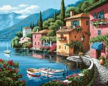 Village bord du lac