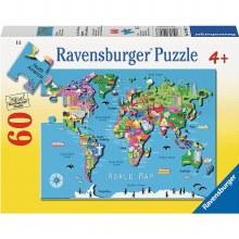 Casse-tête, 60 mcx - Carte du monde