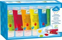 6 tubes Peinture à doigts