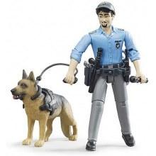 Policier avec chien et accessoires