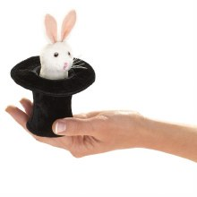 Marionnette à doigt - Lapin dans un chapeau