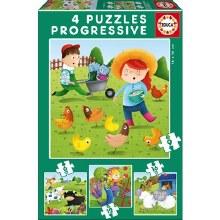 4 puzzles progressifs - ferme