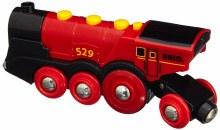 Locomotive puissante rouge