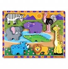 Casse-tête à grosses pièces - Animaux de Safari