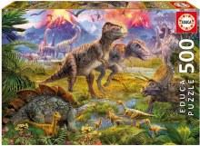 Casse-tête 500 mcx - Rencontre Dinosaures