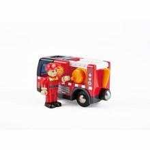 Camion de pompiers avec sirènes