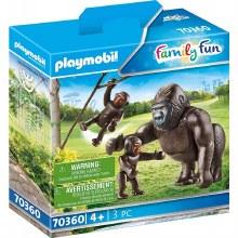 Gorille avec Petits