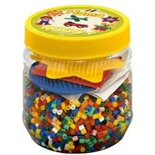 4000 perles et plaquettes jaune Hama