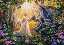 Casse-tête 1000 mcx - Dragon princesse licorne