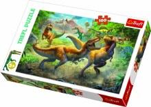 Casse-tête 160 mcx - Combat de Tyranosaures