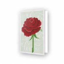 Carte Diamond Dotz - Rose rouge