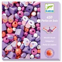 Perles En Bois - Papillions