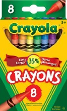 8 Crayons de cire