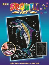 Sequin Art - Dauphins
