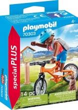 Cycliste avec marmotte
