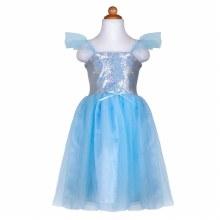 Robe de princesse bleue séquins (5-6ans)