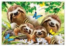 Casse-tête 500 mcx - Selfie famille de paresseux