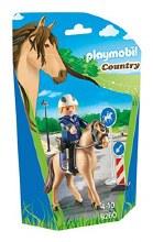 Policier avec cheval
