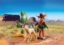 Cowboy avec poulain