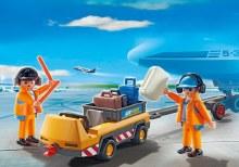 Remorqueur avion et équipage
