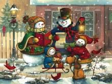 Casse-tête, 400 mcx - Bonhommes de neige chantant