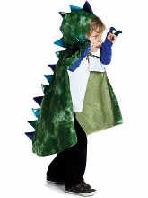 Cape de dragon vert avec griffes - medium