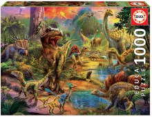 Casse-tête 1000 mcx - Paysage dinosaures