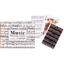 Cartes à jouer doubles - Notes de musique