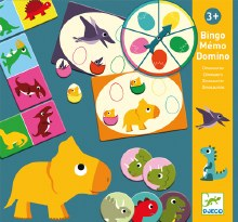 Bingo Mémo Domino Dinosaures