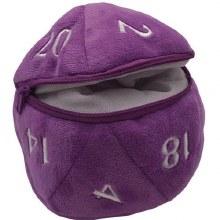 Dice Bag D20 Plush - Pourpre