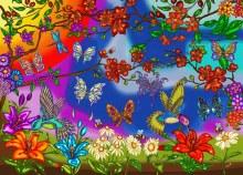 Casse-tête 1000 mcx - Papillons et colibris