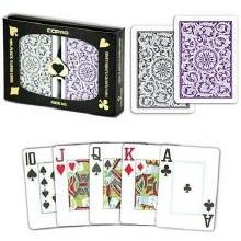Duopack Copag Poker Jumbo mauve/Gris