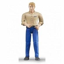 Homme caucasien avec jeans bleus
