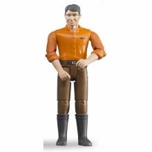Homme caucasien avec pantalons bruns