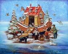 Casse-tête 1000 mcx - Christine Genest - L'arche de Noël