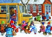 Casse-tête 1000 mcx - Pauline Paquin - En route vers l'école!