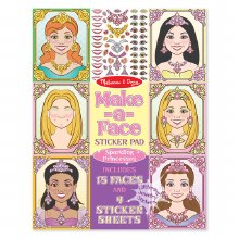 Autocollants visage princesses