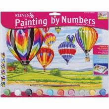 Peinture par numéros - Montgolfières