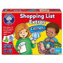 Liste des courses - Vêtements
