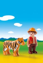 Aventurier avec tigre